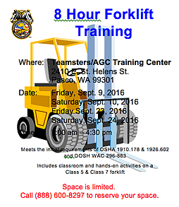 Download this flyer about Teamsters/AGC Forklift Training