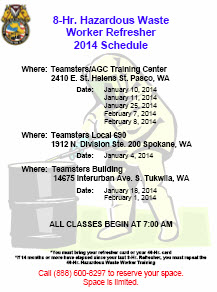 Download the 2014 8-HR Refresher Class schedule here.