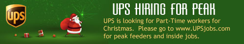 UPS looking for Christmas help.