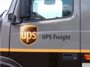 UPS Freight truck cab