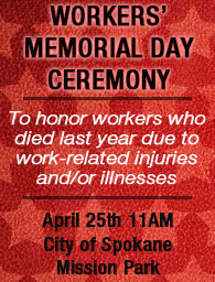 Workers' Memorial Day Ceremony