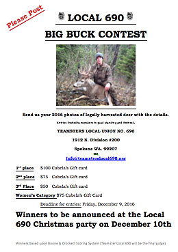 2016 Big Buck Contest