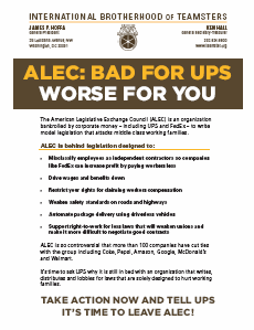 ALEC: Bad For UPS, Worse For You