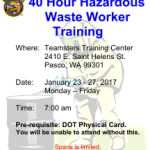 2107 Haz-Mat Training Schedule