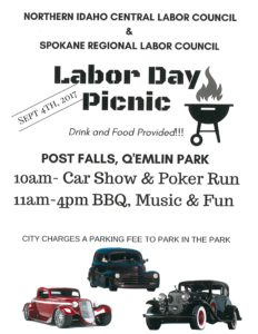 N. Idaho Central Labor Council Picnic @ Labor Day Picnic