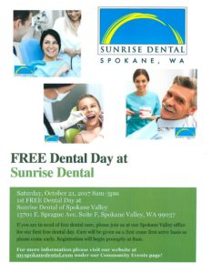 Free Dental Day @ Sunrise Dental