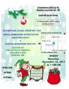 2017 Annual Appreciation Mtg & Christmas Party @ Girl Scouts of America