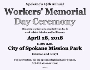 Worker's Memorial Day Ceremony @ Mission Park