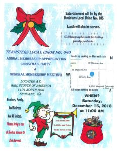 Annual Membership Appreciation Christmas Party @ Girl Scouts of America